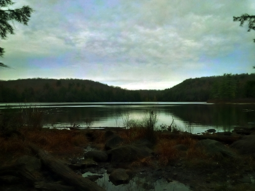 Guskewau Lake on the trail.