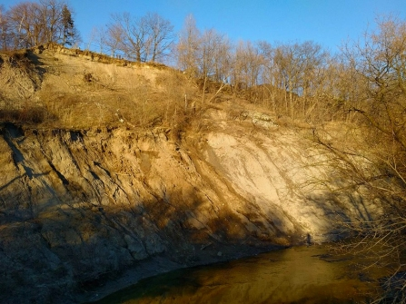 View of the cliff over the River from earlier in the year.