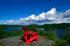 The famed Parks Canada red chairs with their spectacular views.