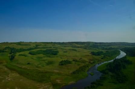 Shallow river valleys of Saskatchewan.